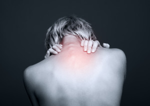 Woman suffering from chronic pain