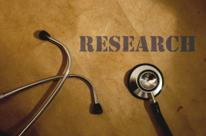 Stethoscope used by clinical trial investigator
