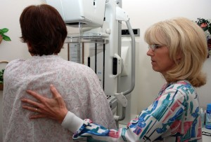 Woman Getting a Annual Mammogram