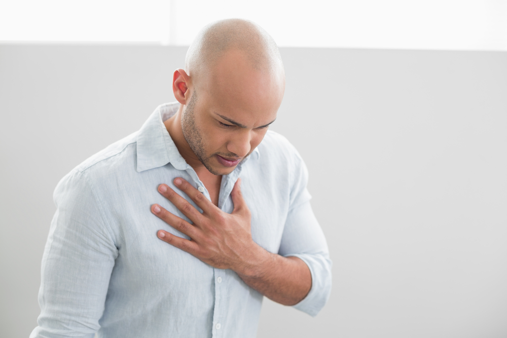 Man concerned about his heart health